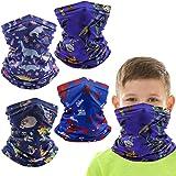4 Pcs Kids Balaclava Neck Gaiter Bandanas, Toddler Half Face Protective Masks. Gifts For Kids.