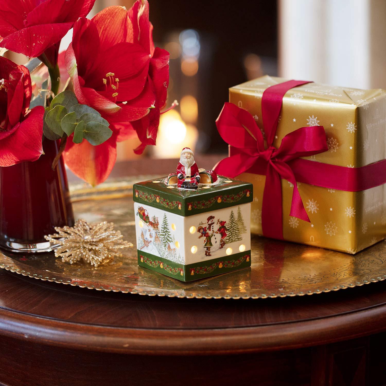 16 x 16 x 20 cm Verde//Multicolore Villeroy /& Boch Christmas Toys Pacchetto Regalo Grande e Rettangolare