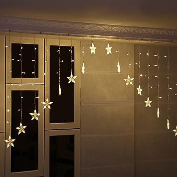LED Sternenvorhang Lichterkette Vorhang Lichtervorhang LED ...