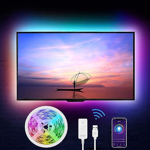 Gosund - Tira LED Alexa USB, 2,8 m, RGB, Smart WiFi, 16 millones de colores, controlable