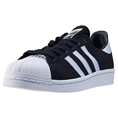 premium selection ac3da 58240 ADIDAS Superstar sneakers sportive lacci TESSUTO BLACk WHITE NERO BIANCO  BB2965