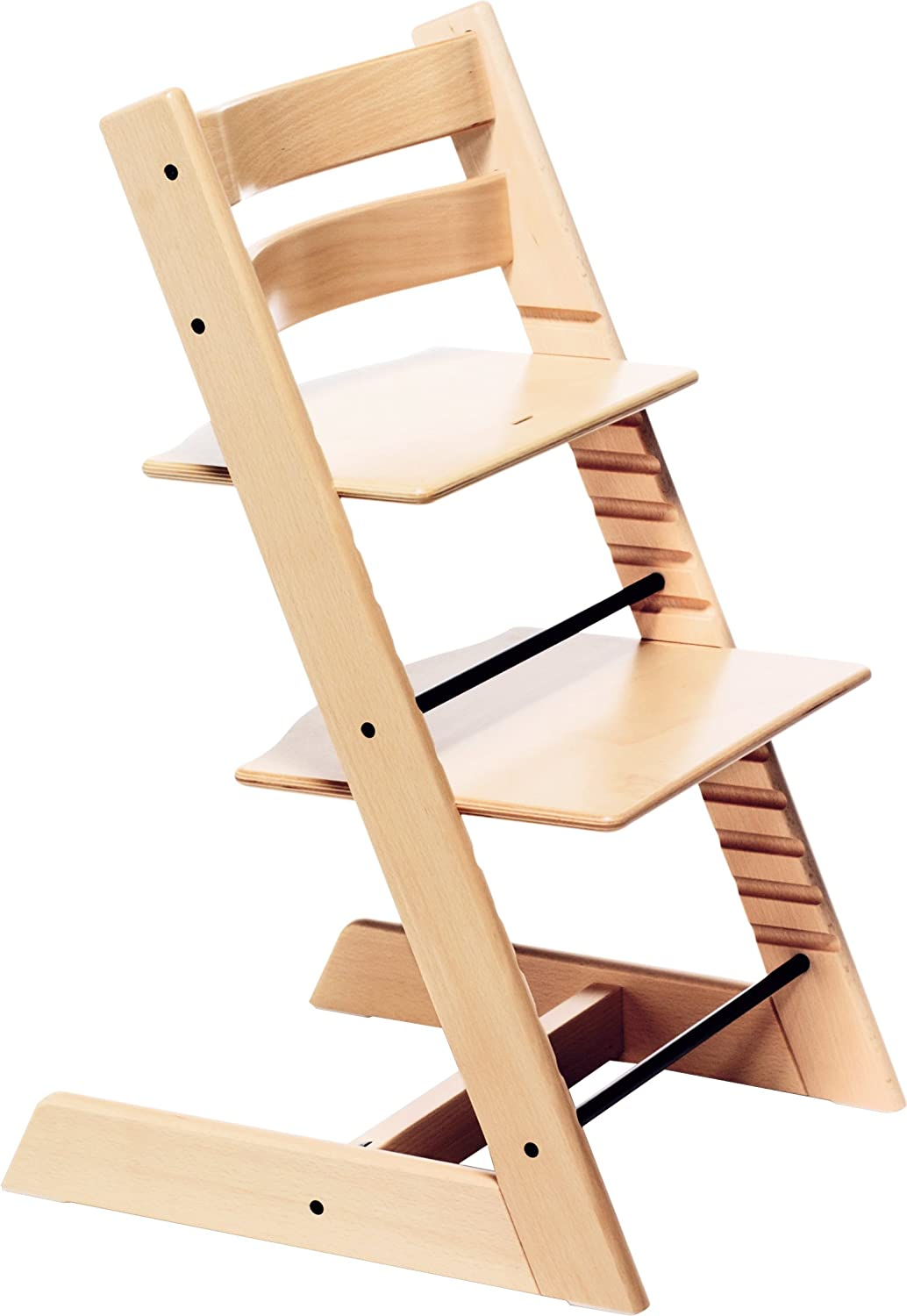 Amazon.com : Stokke Classic Tripp Trapp Highchair NATURAL Wood High Chair  BRAND NEW : Childrens Highchairs : Baby