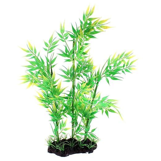 Sourcingmap Aquarium Unterwasser Bambus Pflanze Ornament Amazon De