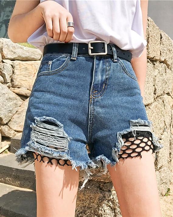 Kasen Donna Estate Strappati Denim Shorts Jeans Vita Alta Denim  Pantaloncini Corti  Amazon.it  Abbigliamento d4e1d6219e8