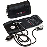 """PARAMED Aneroid Sphygmomanometer with Stethoscope – Manual Blood Pressure Cuff with Universal Cuff 8.7-16.5"""" and D-Ring…"""