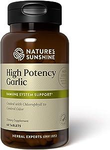 Nature's Sunshine High Potency Garlic 60 Tablets