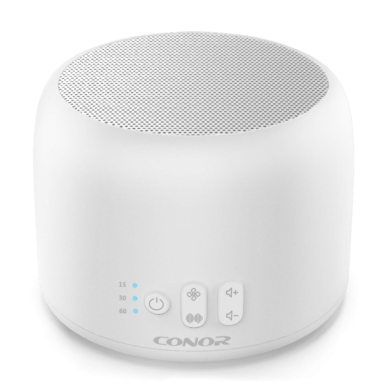 White Noise Machine, Conor High Fidelity Sound Machine for Sleeping, Baby, Office Privacy - with 24 Unique Fan & White Noise Sounds, Sleep Timer, 2 USB Charge Port