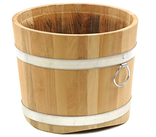 Dehner 1709732 - Fioriera in legno di robinia, Diametro 45 ...