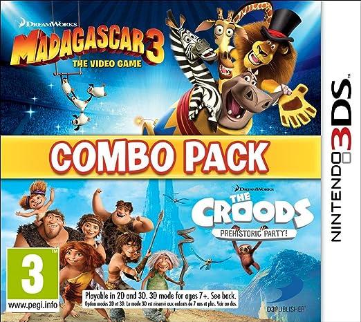 Madagascar 3 & The Croods: Fiesta Prehistórica - Combo Pack ...