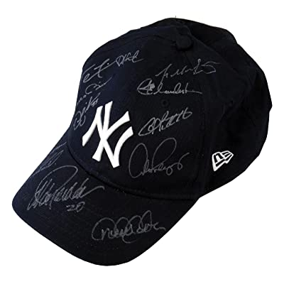 c33bb935ca9 2009 NY Yankees WS Champs Team Signed Hat Derek Jeter Mariano Rivera Arod - JSA  Certified