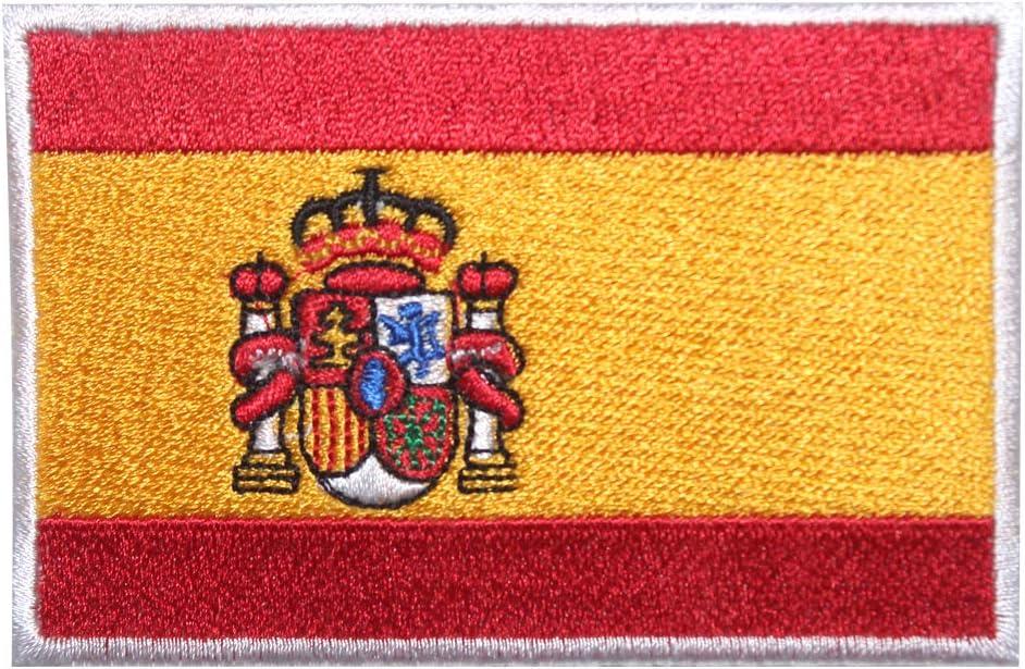 Parche bordado con la bandera nacional de España para planchar o coser: Amazon.es: Hogar