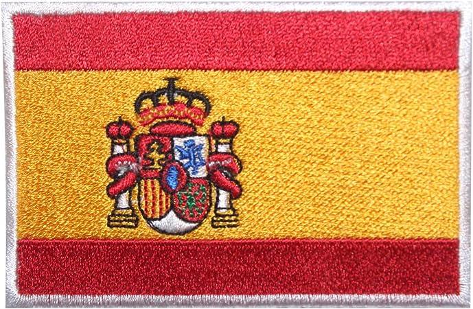 Parche bordado para coser o planchar, diseño de bandera nacional de España, para ropa, etc.: Amazon.es: Hogar