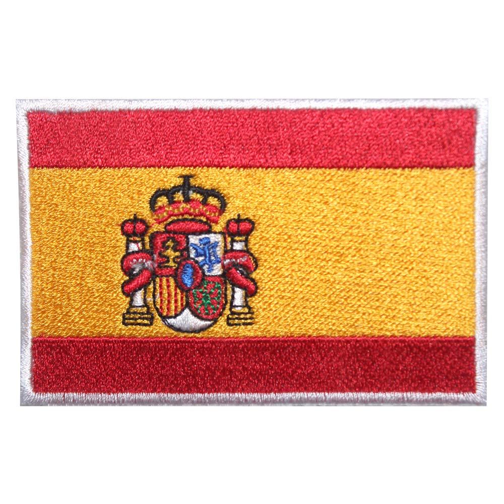 etc. Parche bordado con la bandera nacional de Espa/ña para coser o planchar para ropa