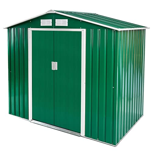 Dirty Pro Tools 10 X 8 FT Metal Garden Shed With Base