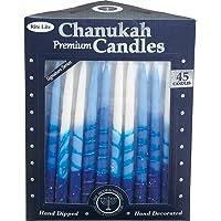 Rite -Lite Judaica C-31-BWN2 Premium Chanukah Candles, 1 EA, Blue and White