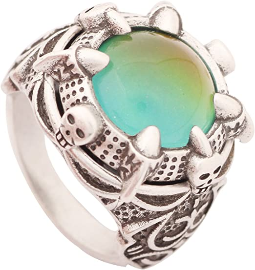 Vintage style plated sterling silver mood ring