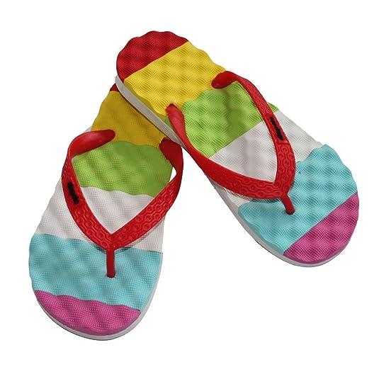 Schlappen Badelatschen Kinder Badeschuhe Schwimmschuhe Sandalen Sommer Flip Flops Gelb Rot Gr/ün 30 31 32 33 34