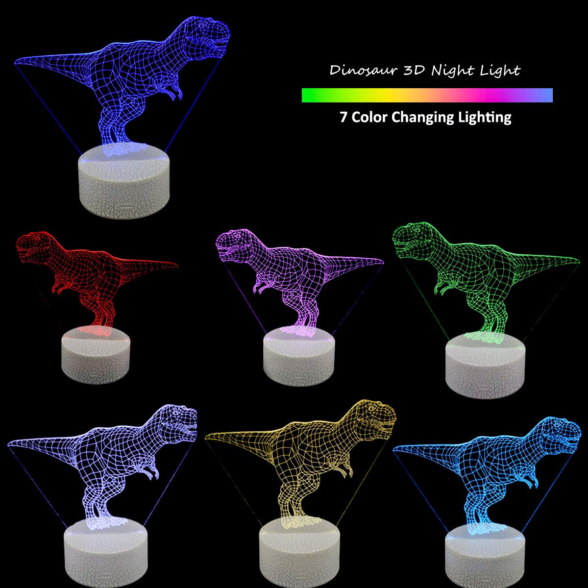 Dependable Skateboarding Sport Model 3d Nightlight Visual Illusion Led 7 Colors Changing Desk Light Luminous Bedroom Toys Toys & Hobbies