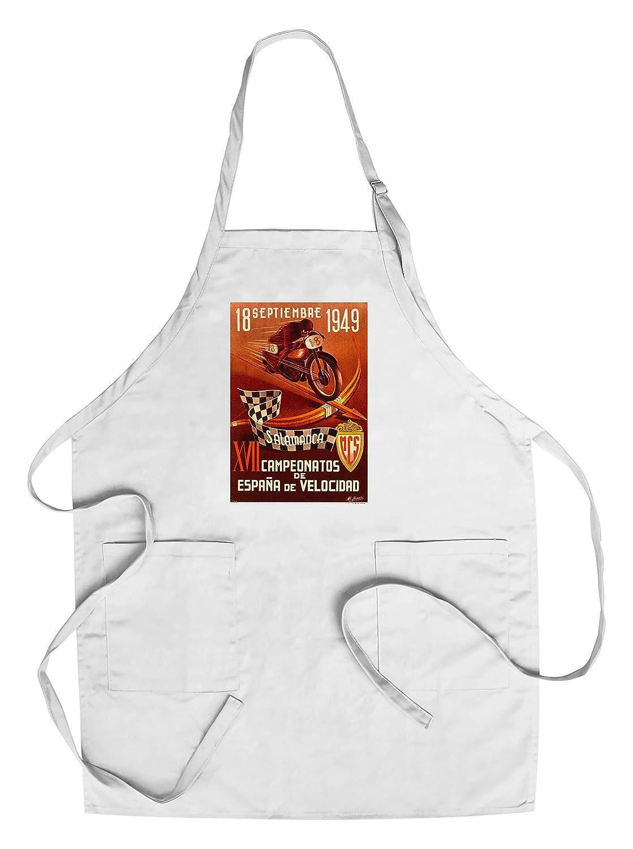 XVII CAMPEONATOS Espana De Velocidadヴィンテージポスター(アーティスト: fracia )スペインC。1949 Chef's Apron LANT-59438-AP B018NO1MBU  Chef's Apron