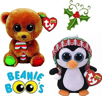 Amazon.com  Christmas 2017 Bundle Gift Pack TY Bella Bear Buddy Penelope  Penguin Buddy Medium  Toys   Games 36a938e3f3e7