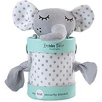 Bubba Blue Petit Elephant Security Blanket, Neutral Grey/White