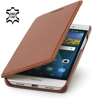 Amazon.com: StilGut Book Type, funda de piel para Huawei P8 ...