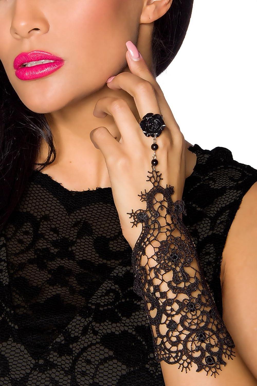 Gothik-Handstulpe mit Spitze 1 Stück