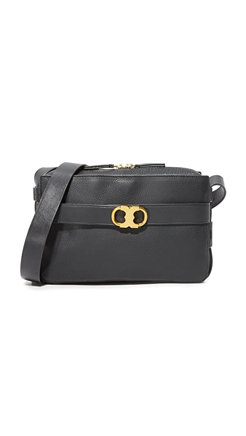 eebd2169c47 Buy Tory Burch Gemini Link Leather Crossbody Camera Bag in Black Online at  Low Prices in India - Amazon.in