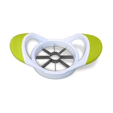 Premium Apple Slicer Corer - 100% Non-Magnetic Stainless Steel Blades, White