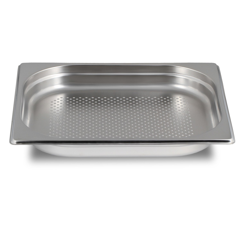 Greyfish - Recipiente perforado para vaporeras Gaggenau, Miele, Siemens (acero inoxidable, apto para lavavajillas, gastronorma 1/2, 32,5 x 26,5 x 4 cm): ...