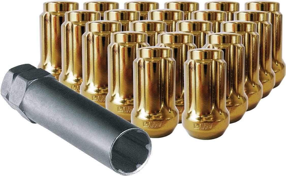 ***Hand Torque Only*** 12X1.25 R.H. Gold Spline Drive Tuner Installation Kit 20 Lug Nuts /& 1 Key