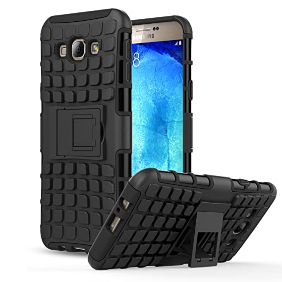 promo code cbc87 8909b Galaxy A8 Case - MoKo Heavy Duty Rugged Dual Layer Armor with Kickstand  Protective Cover for Samsung Galaxy A8 5.7 Inch 2015 Smartphone, BLACK (Not  ...