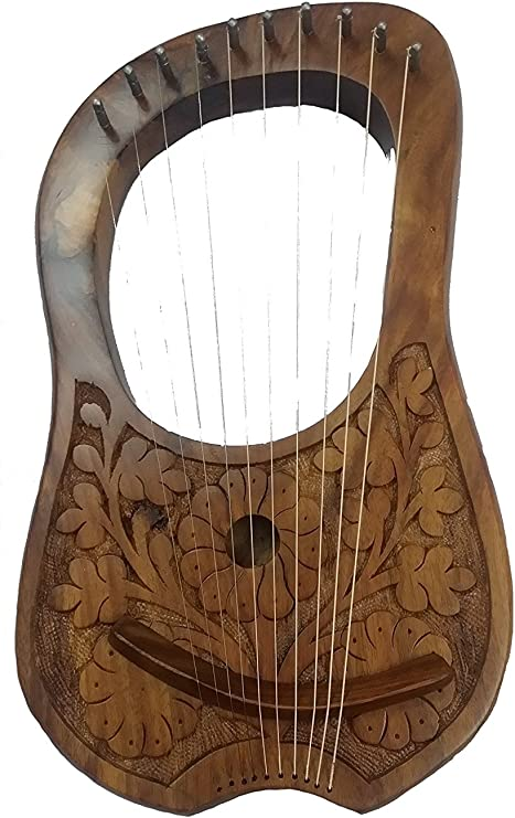 Lyre Harp Natural Rosewood 10 Strings Free Carrying Case,Lyre Harp,Harp,strings