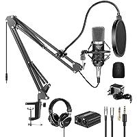 Neewer NW-700 Pro Micrófono Condenser y Auriculares Monitor con 48 V Phantom Fuente Alimentación, NW-35 Soporte Brazo…