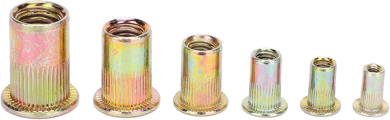 Tuerca de remache de carbono galvanizado 200 piezas duraderas para muebles autom/óviles caja de embalaje Tuerca remachadora de tracci/ón simple y pr/áctica