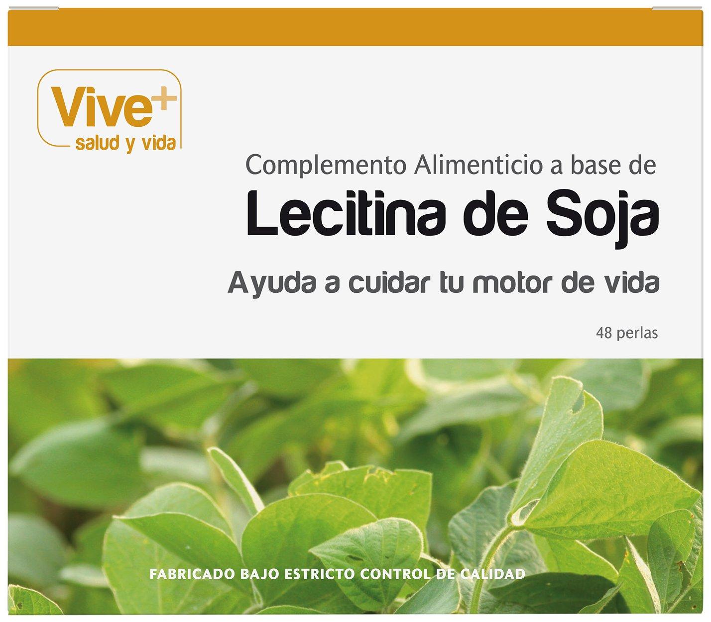 Vive+ Lecitina de Soja Perlas - 48 Cápsulas: Amazon.es: Salud y cuidado personal