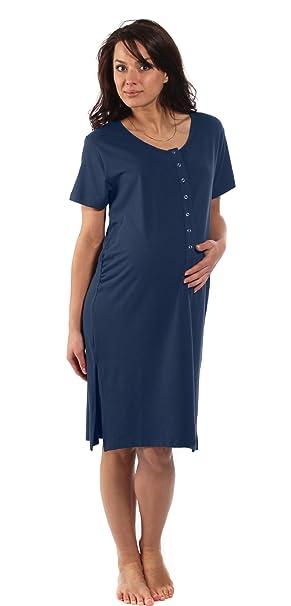 La camisa de maternidad de bambú - Para el embarazo, el parto, la lactancia materna y la vinculación afectiva, Azul medianoche, Antes del embarazo Talla S Pequeña (ES 34-36): Amazon.es: Bebé