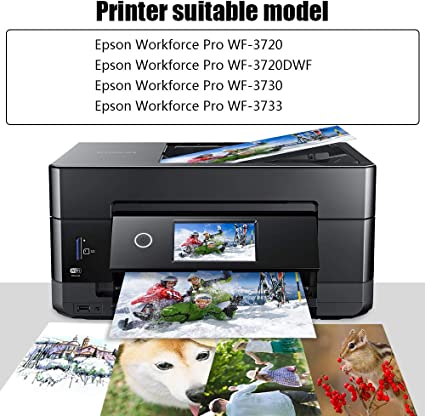 NoahArk 5 Packs 702XL Remanufacture Ink Cartridge Replacement for Epson 702 702XL T702 T702XL use for Epson Workforce Pro WF-3720 WF-3720DWF WF-3730 WF-3733 Printer 2 Black 1 Cyan 1 Magenta 1 Yellow
