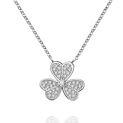 L'aier Clover Stylish Pendant Lady's Necklace,925 Sterling Silver