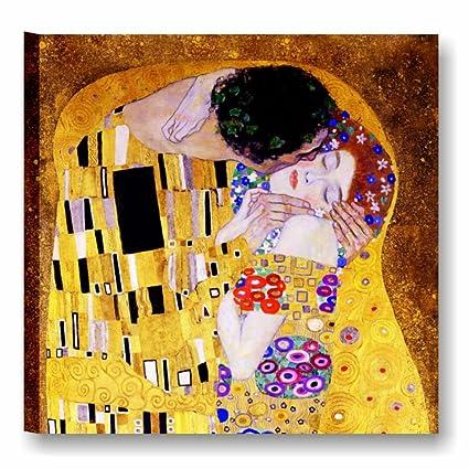 Quadri L&C ITALIA Klimt Il bacio Quadro artigianale su tela 50 x 50 ...