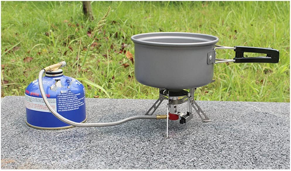 con Encendedor Piezo, 3000W BrilliantDay Hornillo Camping Estufa a Gas Port/átil de Camping Estufa de Gas hornillo de Plegable a Prueba de Viento Cocinar Al Aire Libre para Cocina de Camping