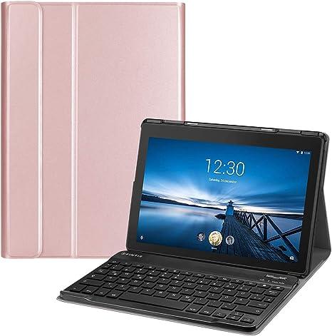 Fintie Funda con teclado para Lenovo Tab E10 TB-X104F 10,1 pulgadas Tablet 2019 - Funda ultra delgada con soporte magnético extraíble inalámbrico ...