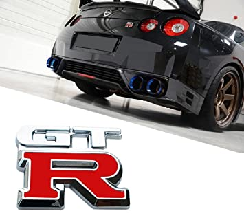 Deselen   LP MO03   Nissan GTR Car Logo Emblem Metal Stickers Decals Badge  Labeling