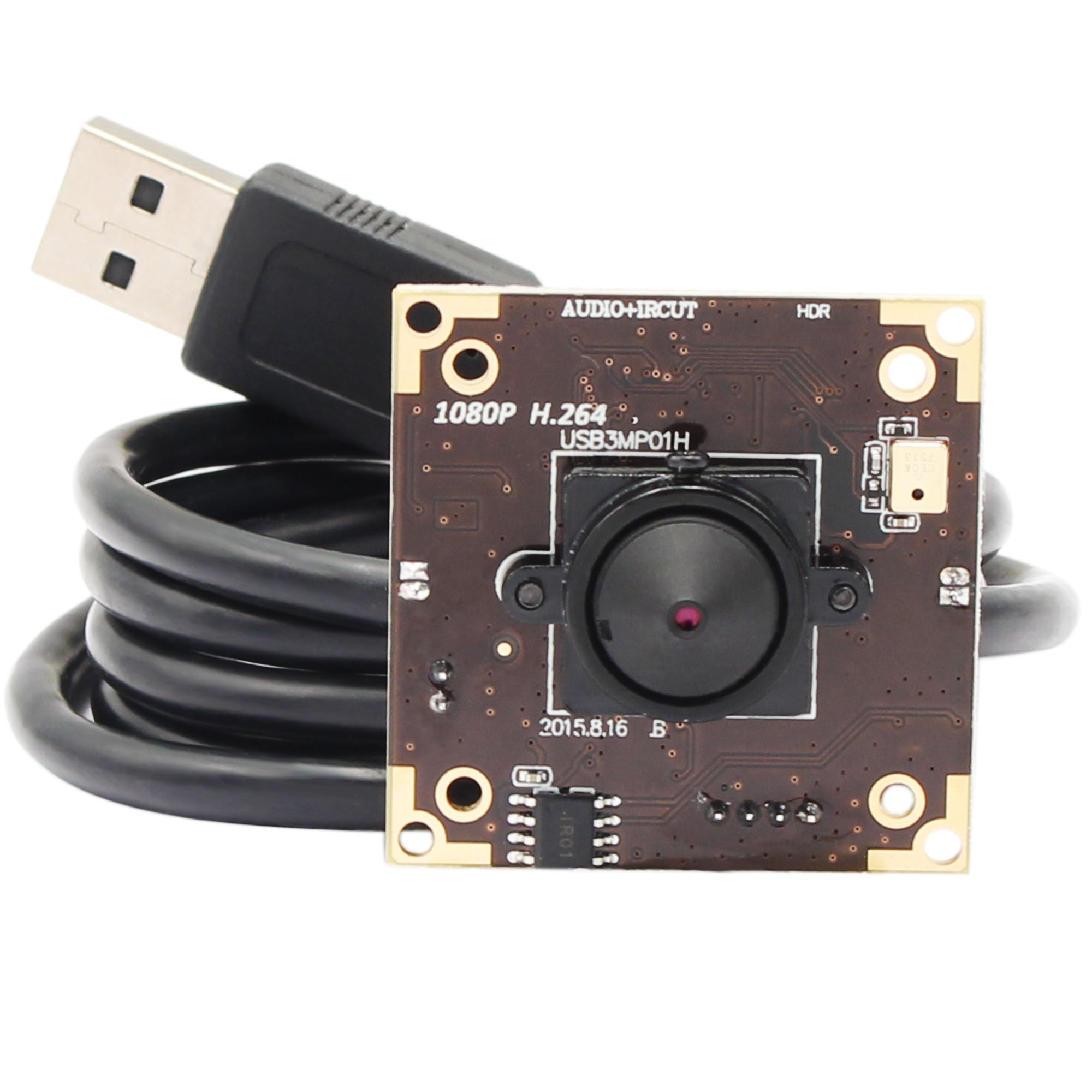 3.0 megapixel WDR usb camera with 3.7mm pinhole lens adopt MICRON AR0331 sensor, Dynamic Range up to 100 dB