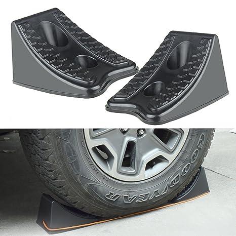 Roccs calces de rueda de coche 2pcs plástico resistente rueda Chock tapones para remolques caravanas vehículo