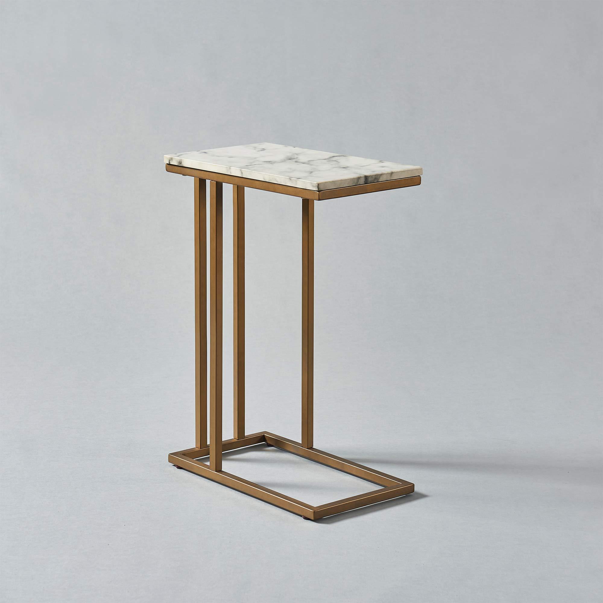 Versanora - Marmo C Shape Table - Faux Marble /Brass by Versanora (Image #13)