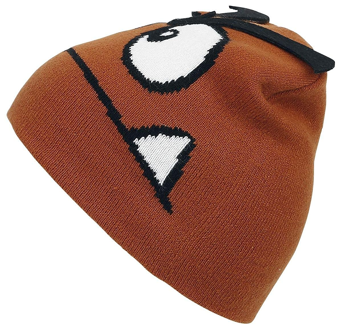 11fb5779ccf Amazon.com  Nintendo Beanie Hat Goomba 3D Eyebrows Official Gamer Brown   Clothing