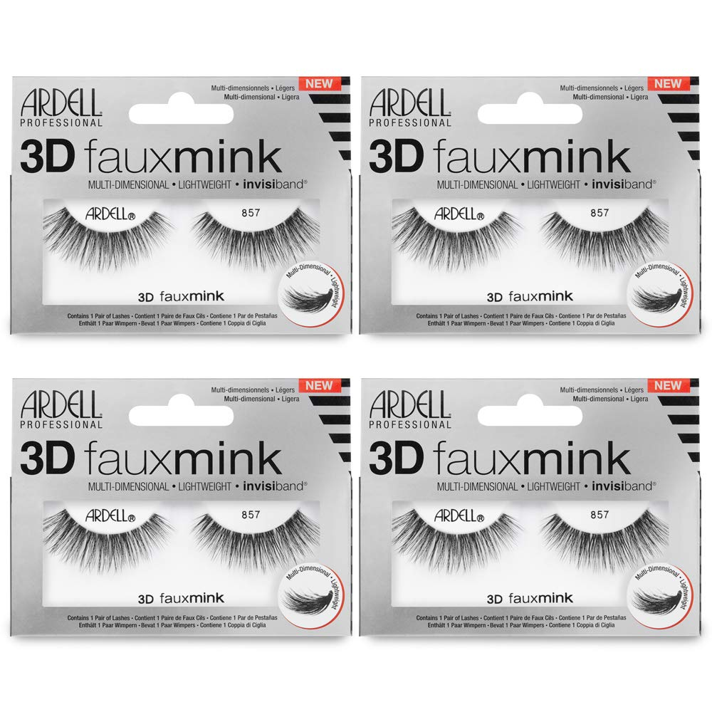 b047deee061 Amazon.com: Ardell False Eyelashes 3D Faux Mink 857 (4 pack): Beauty