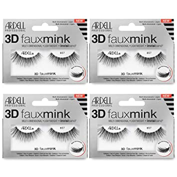 1dd5d9920d0 Image Unavailable. Image not available for. Color: Ardell False Eyelashes  3D Faux Mink 857 ...
