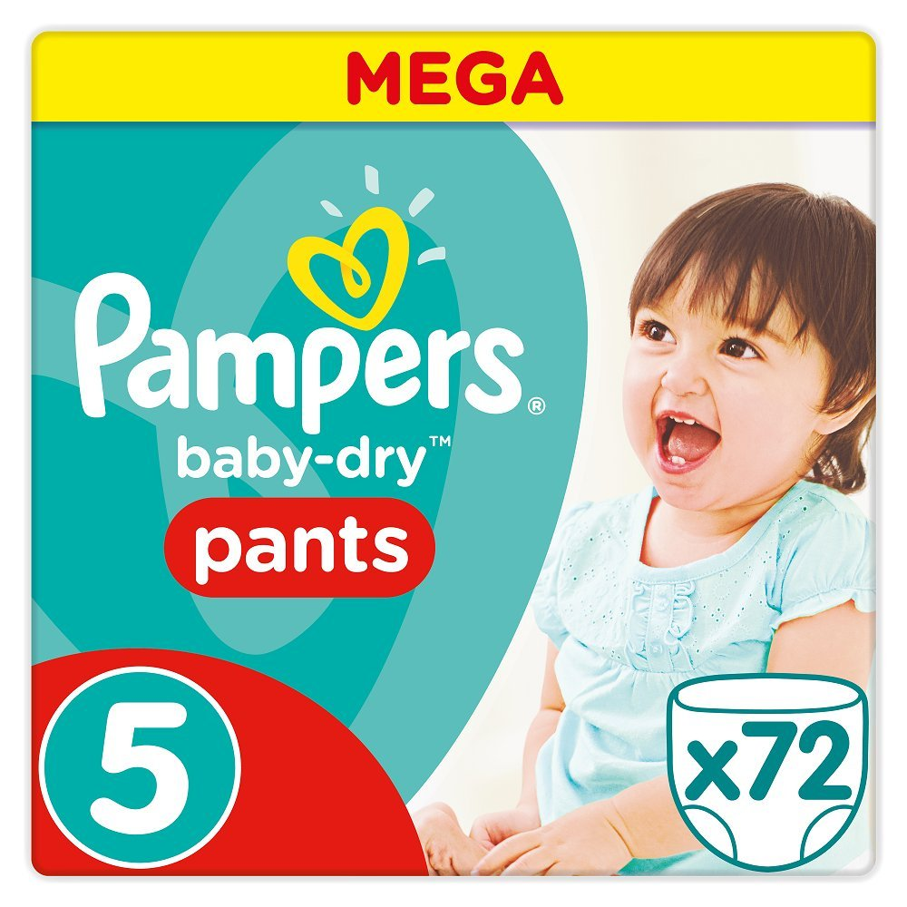 Pampers Baby-Dry Nappies - Batch of 72 - Size 5, 11-18kg 81611718